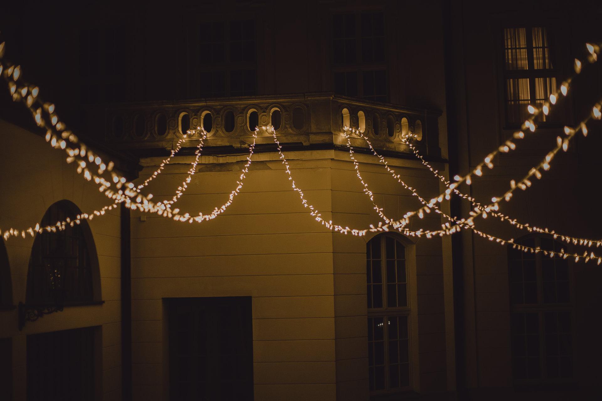 pałac goetz światełka na wesele