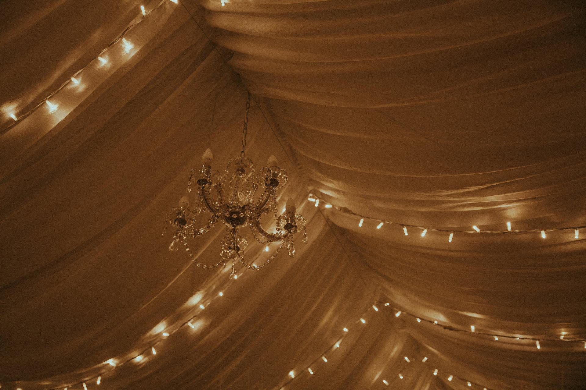 """światełka """"Fairy Lights"""" na wesele, wesele w namiocie"""