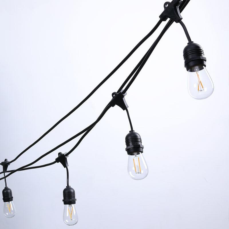 girlanda ogrodowa model kropla, żarówki LED
