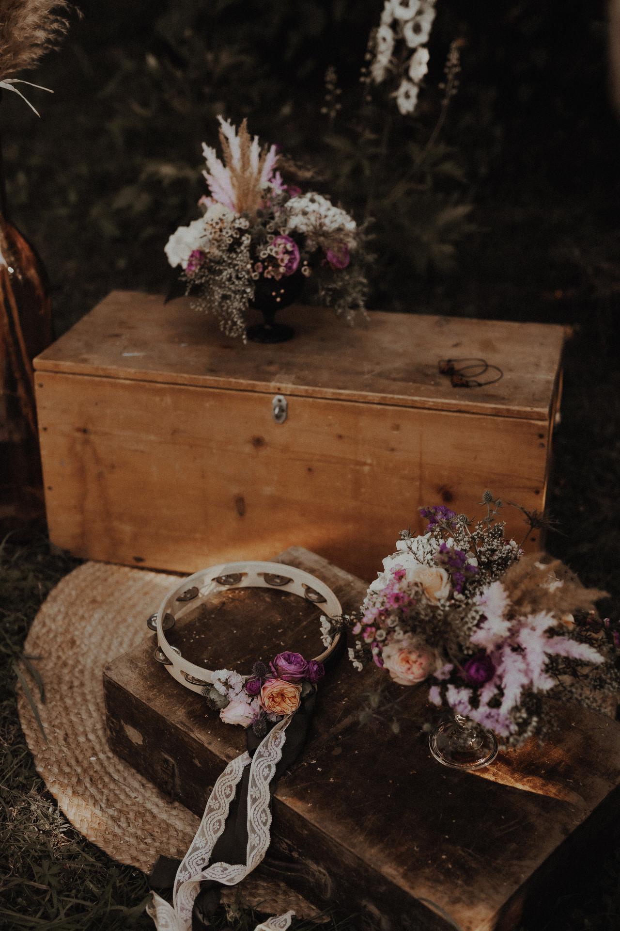 ceremonia ślubna w stylu boho