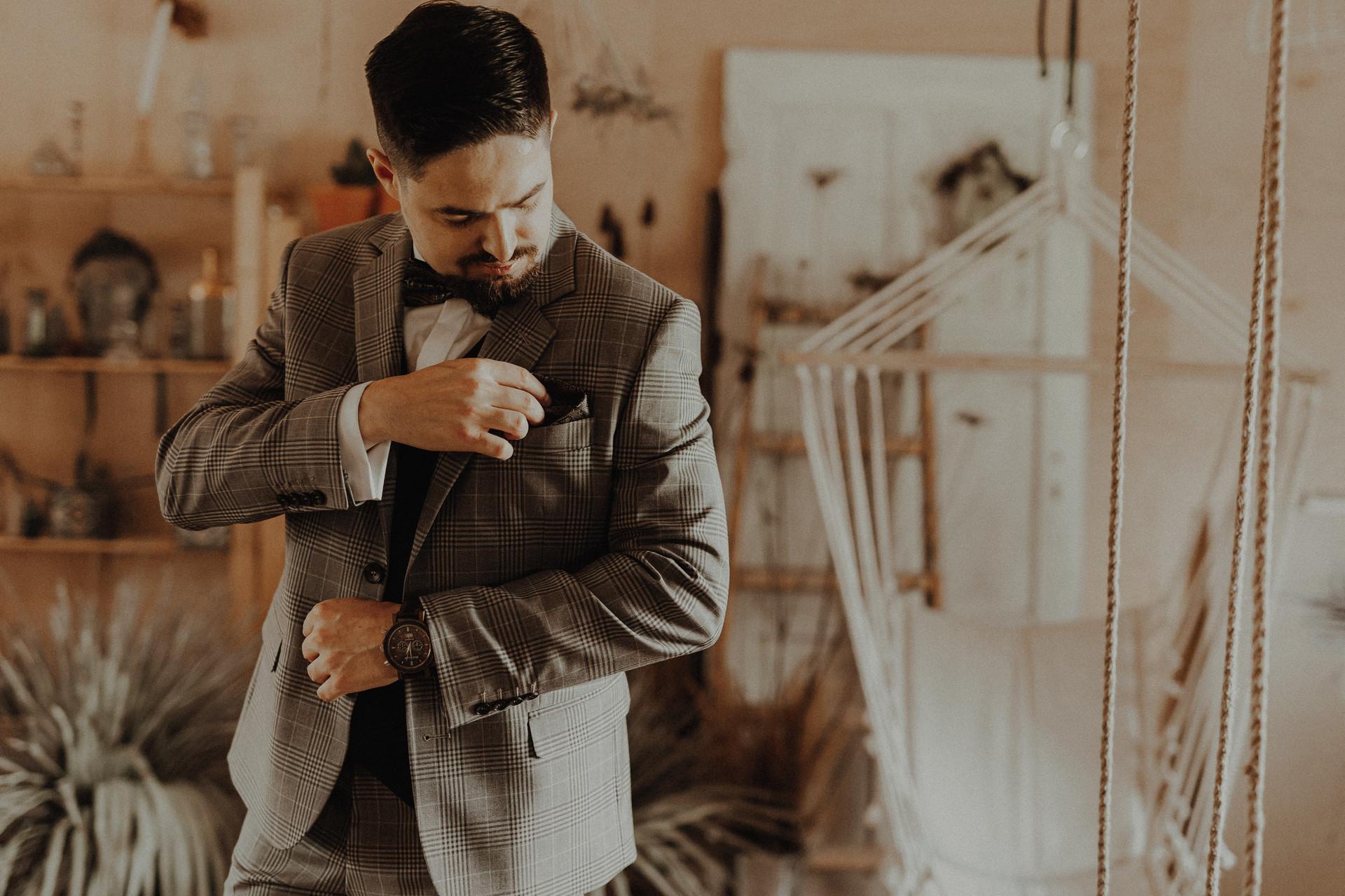 garnitur na wesele, pan młody