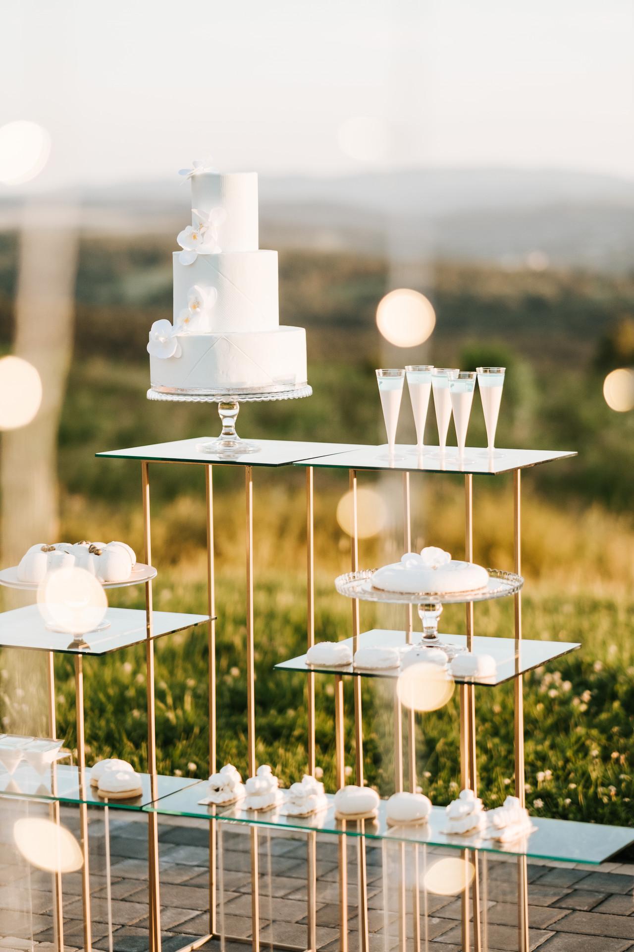 słodki stół, wesele glamour