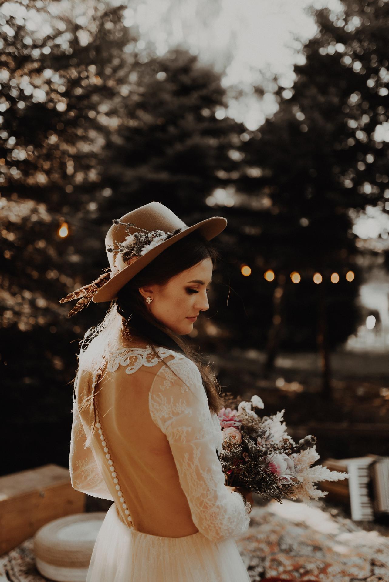stylizacja panny młodej - ślub hippie