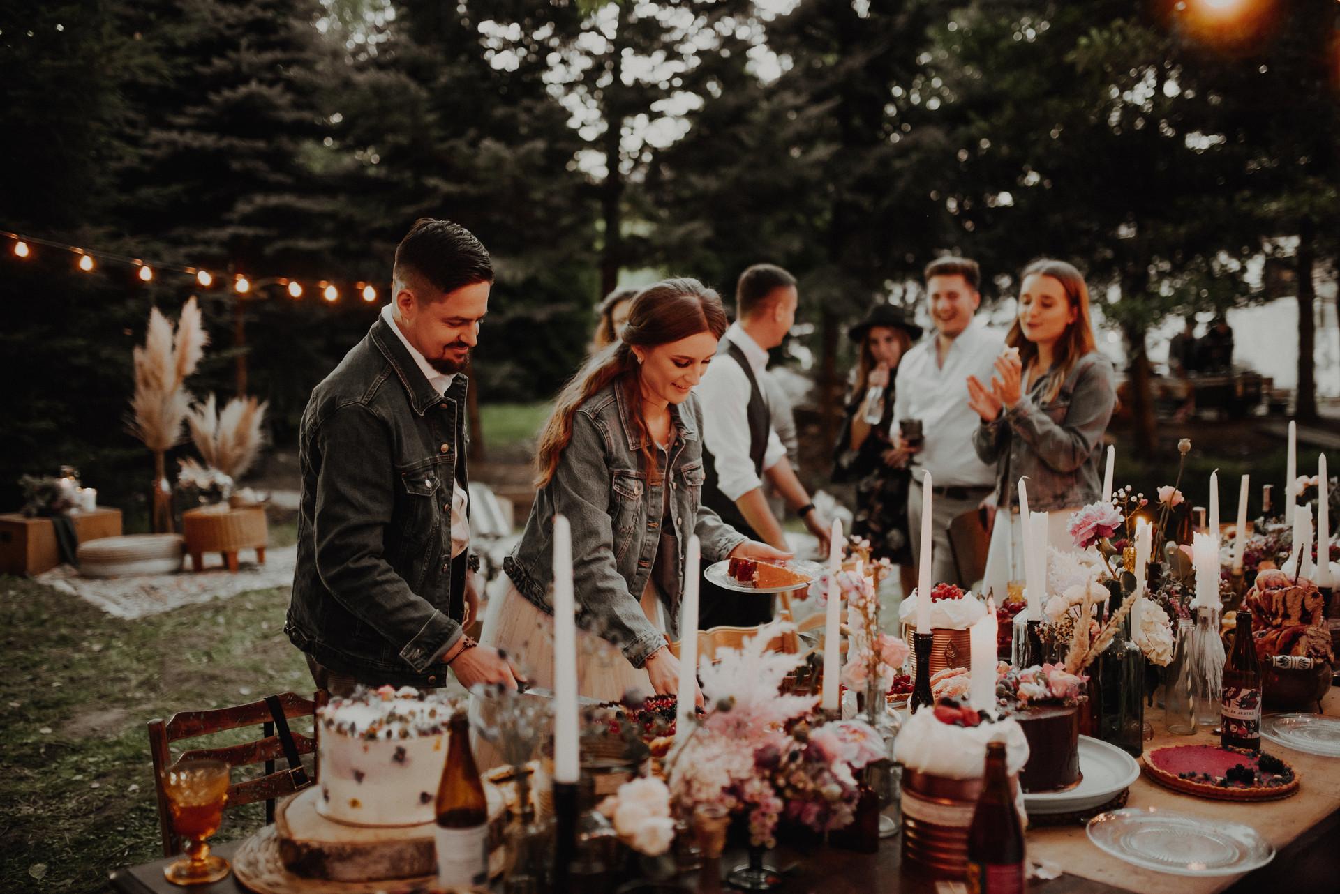 wesele boho w ogrodzie