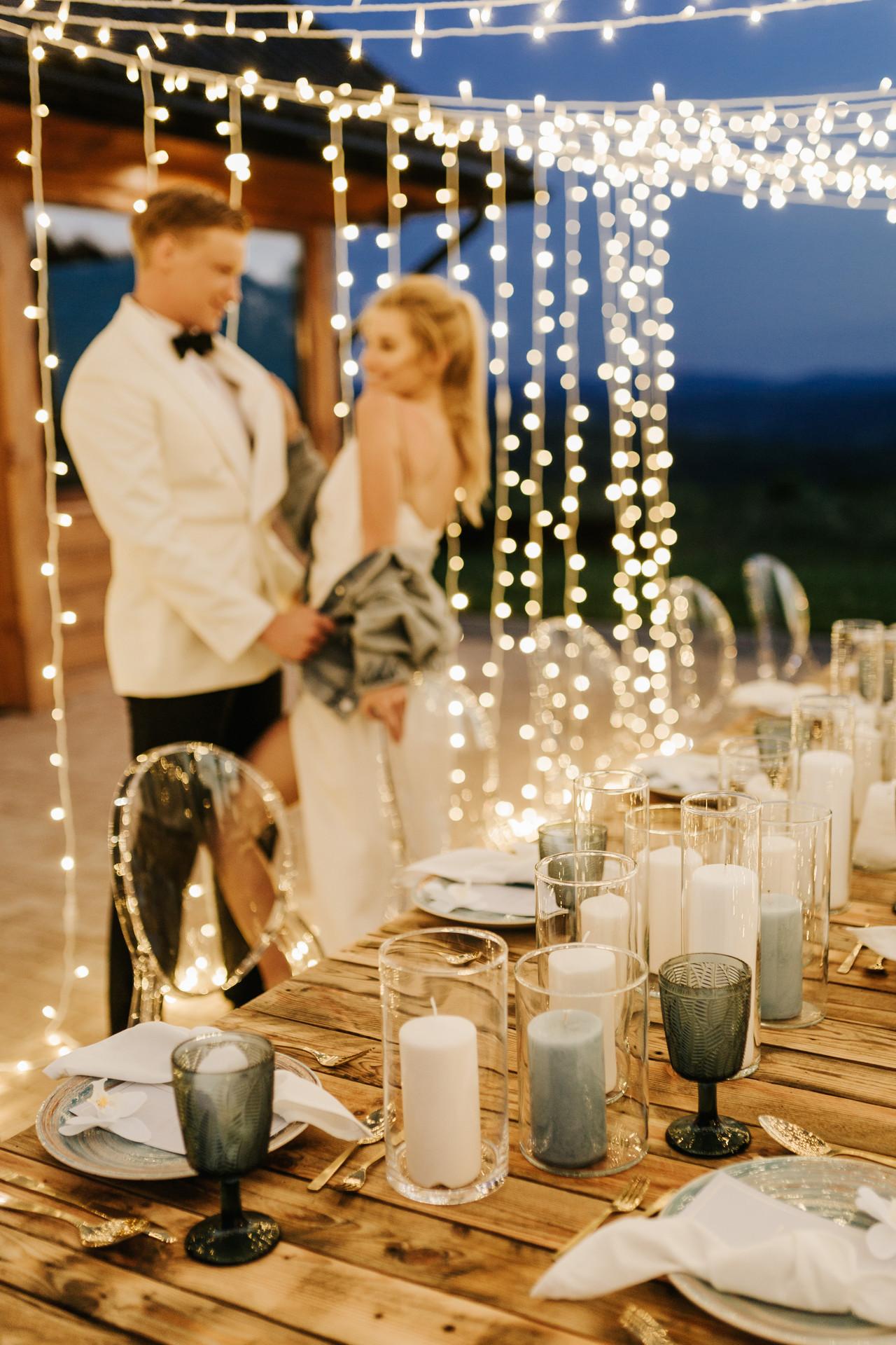 wesele glamour w plenerze
