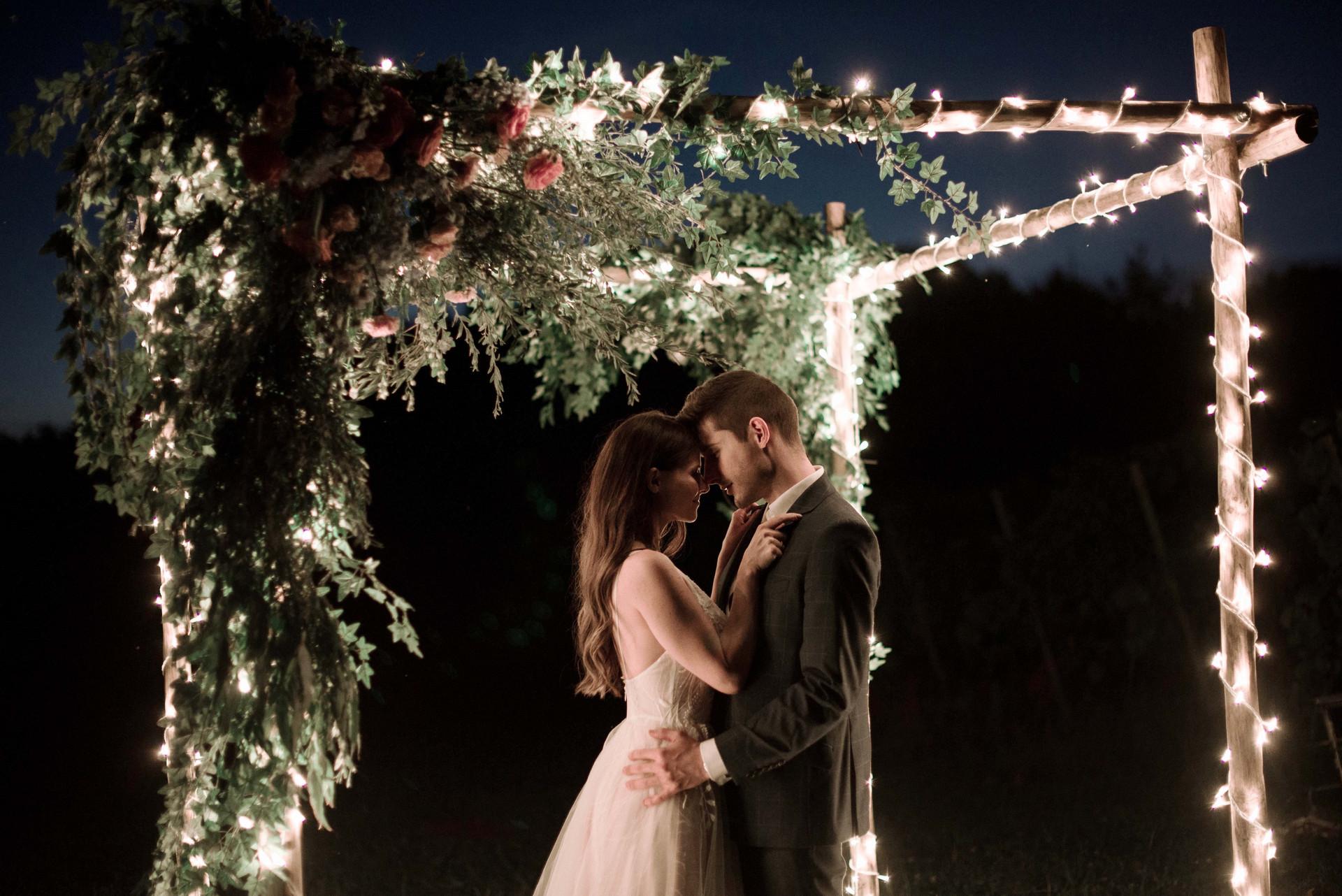 dekoracja altany weselnej