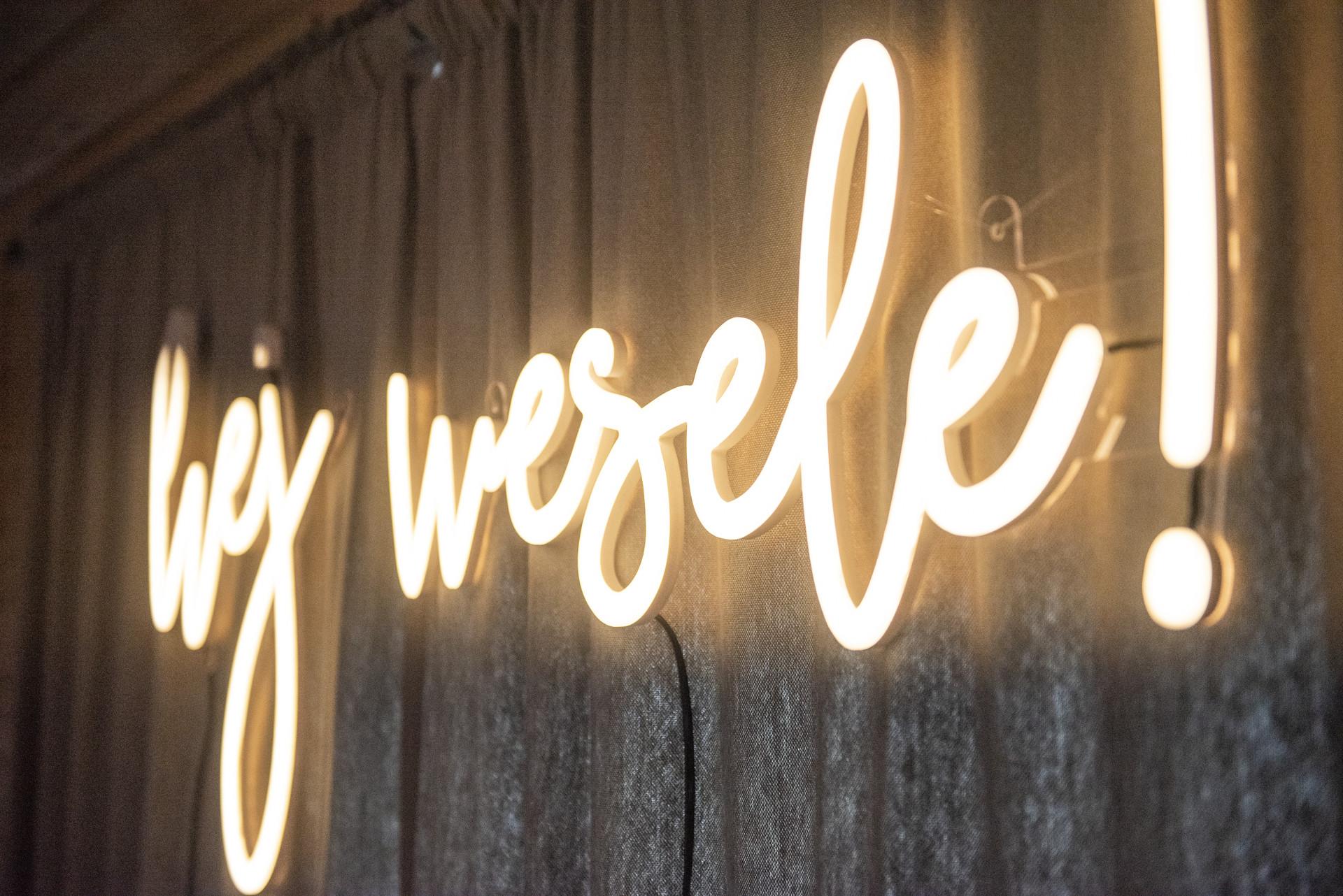 napis na wesele