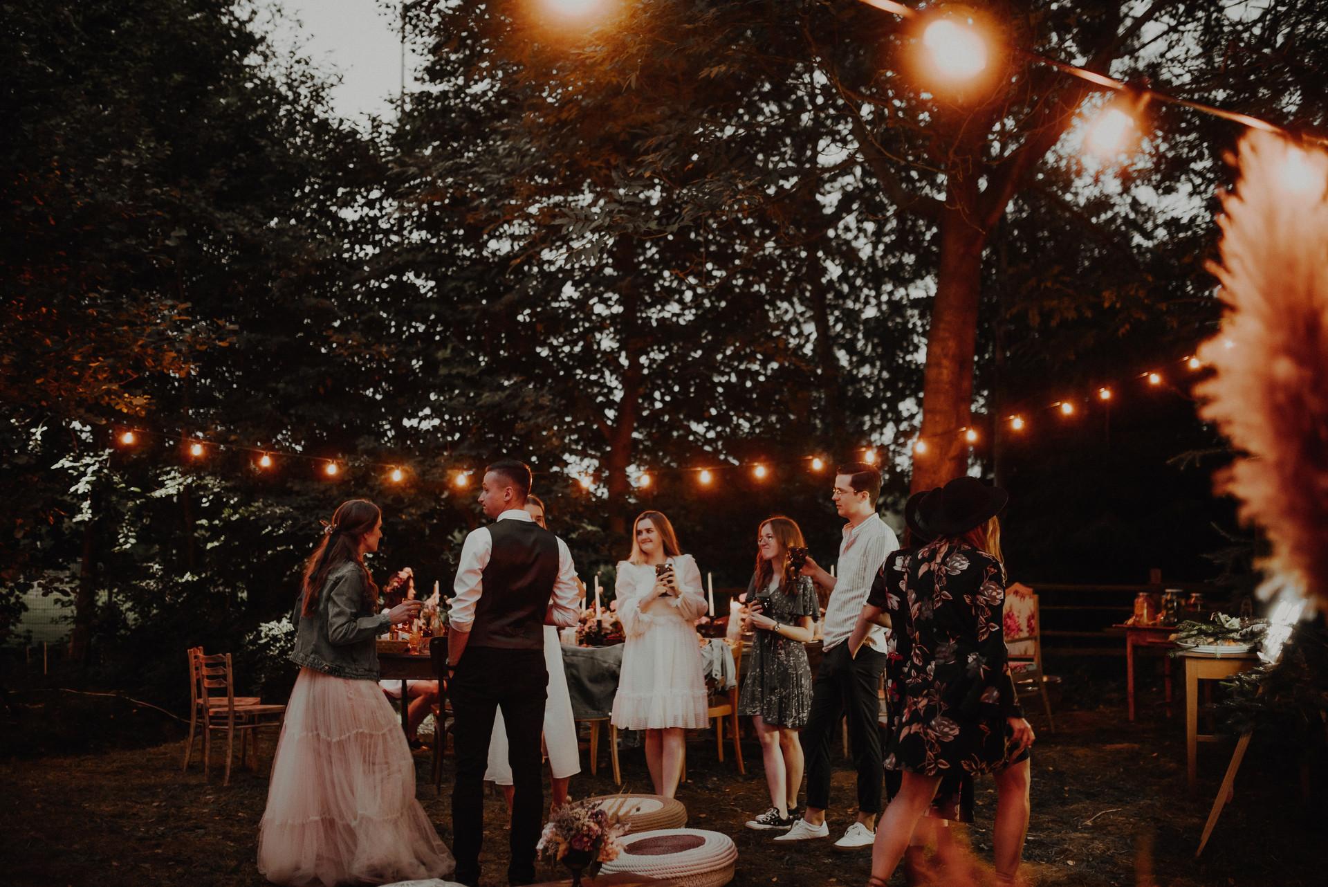wesele w ogrodzie, strefa chill