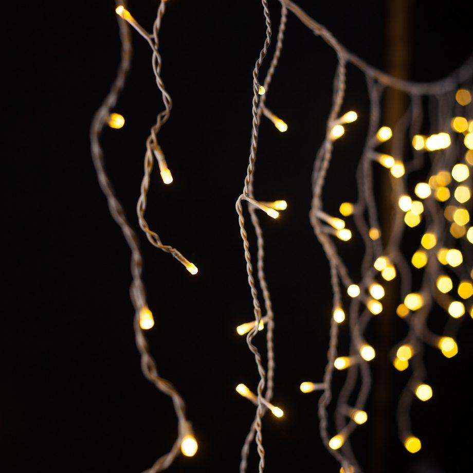 kurtyna led, sople led, fairy lights