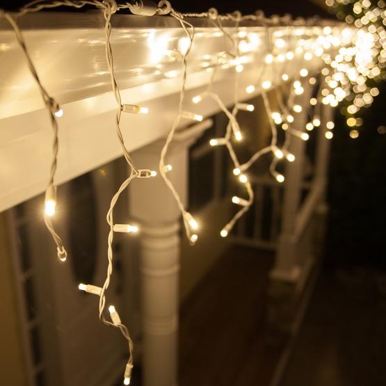 kurtyna sople led, światełka zewnętrzne