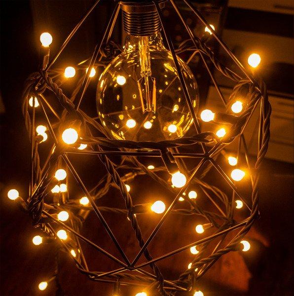 lampki choinkowe led, model g12, ciepły biały, zewnętrzne