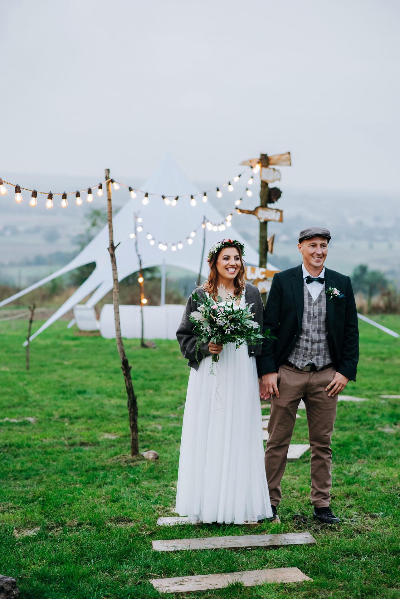 para młoda, ślub w plenerze