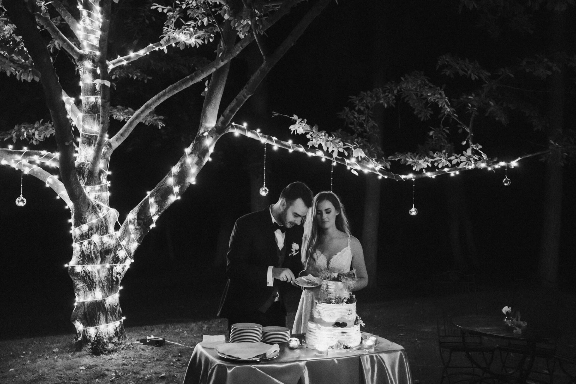 dekoracje świetlne na wesele