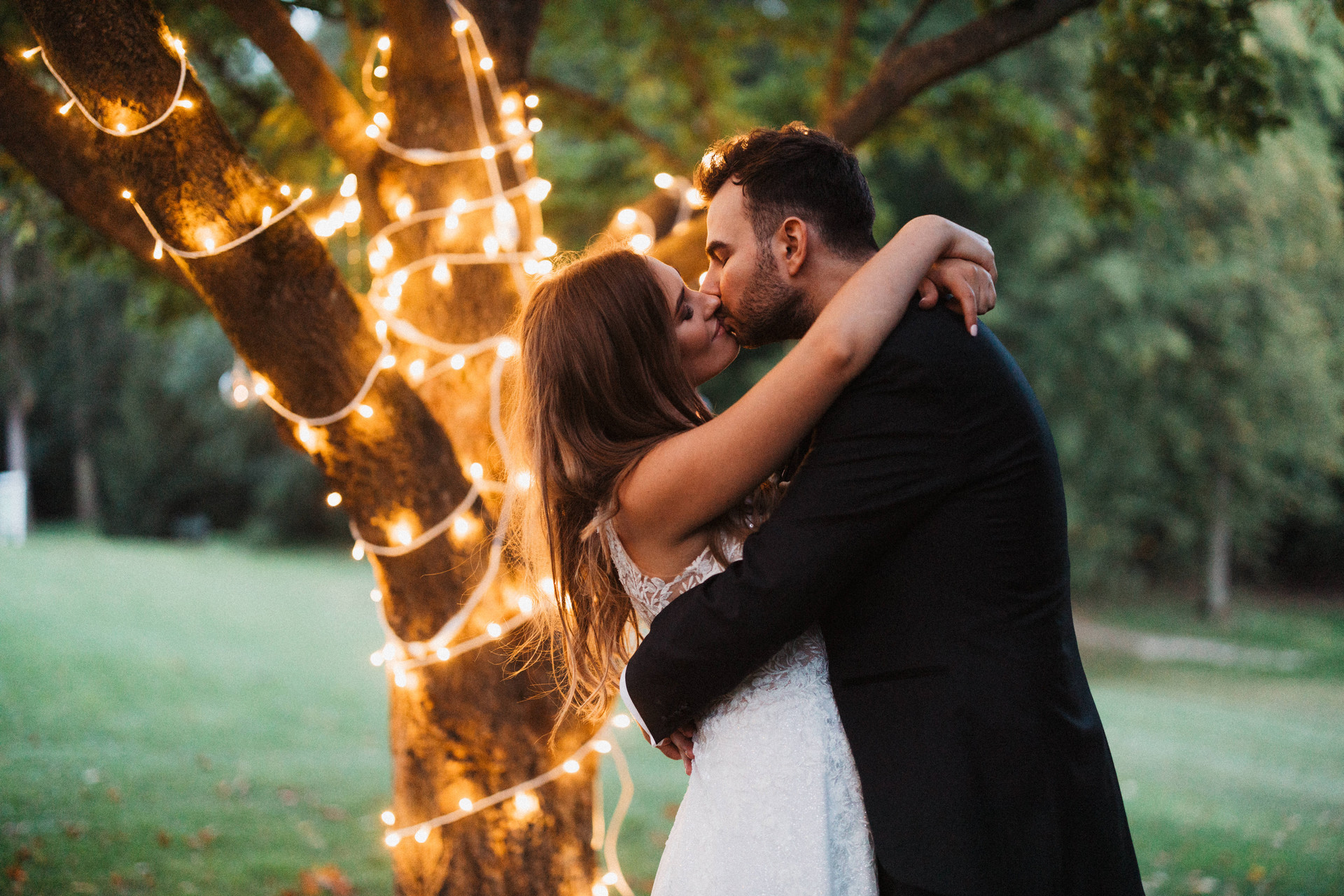pałac jabłonna, światełka na wesele