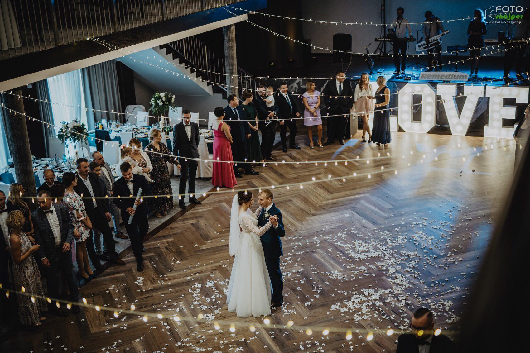 światełka na wesele hotel arkas