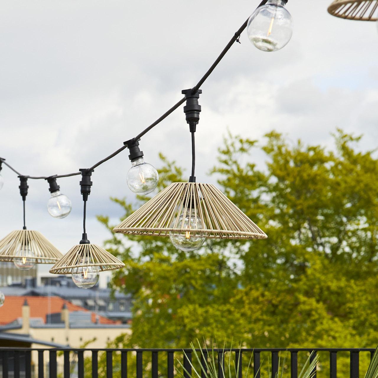lampa ogrodowa wisząca - klosz