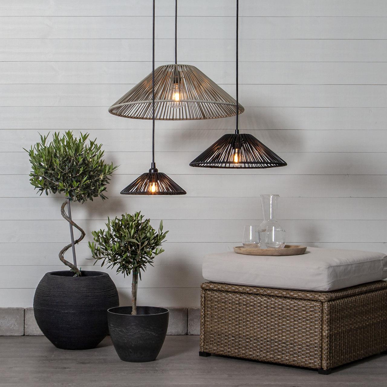 lampy ogrodowe wiszące - klosz