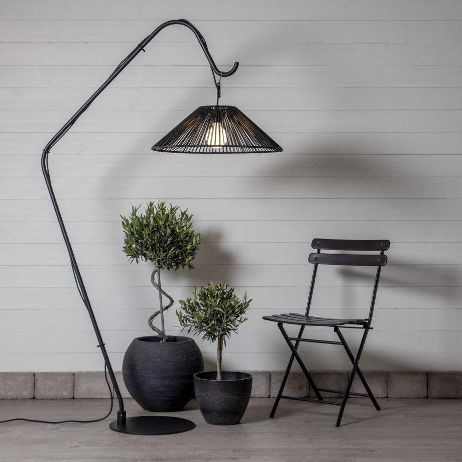 lampa ogrodowa wisząca, czarna