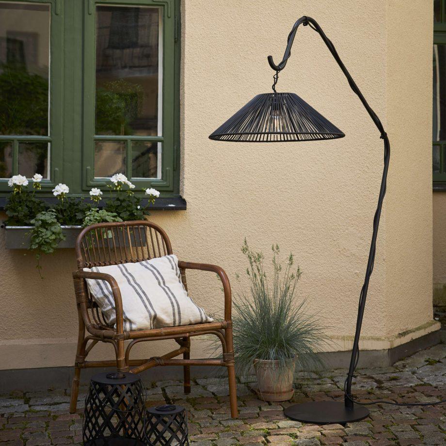 lampa ogrodowa wisząca, technorattan