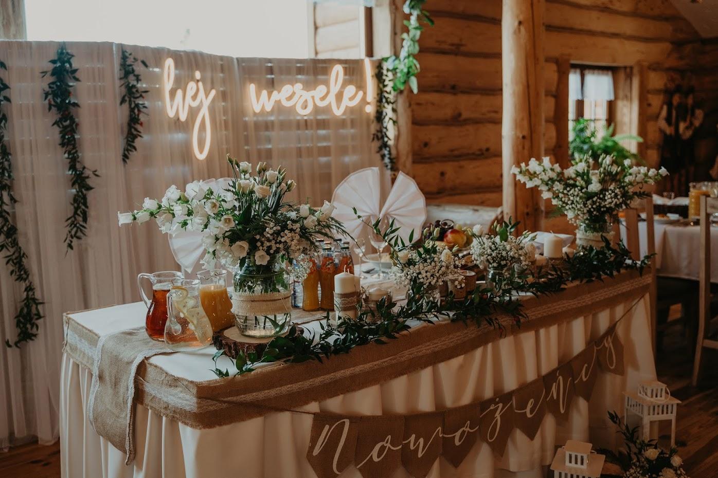 napis led na wesele